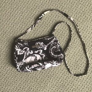 Vera Bradley Black and White Small Crossbody Purse